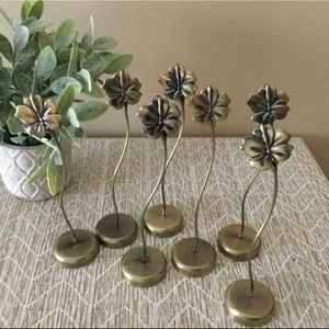 7 Metal Flower Photo Place Card Holders